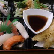 Ichiban Sushi - Lunch Combo 6: tempura,  sushi, vegetables, rice... Awesome deal! - Toronto, ON, Kanada