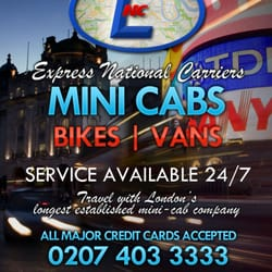 Taxi SE15 - Express National Carriers, London