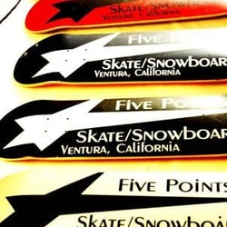 At Five Points Skate And Snowboards logo