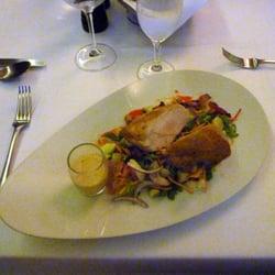 Hähnchenbrust auf Salat mit Spargel