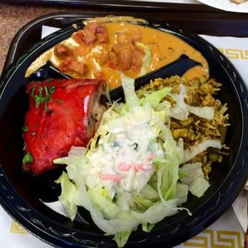 united states 2 meat plate tandoori chicken and chicken tikka masala