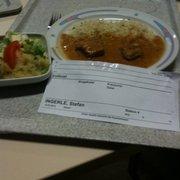 Kalbfleisch m. Kräuterreis + Salat