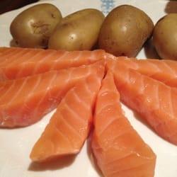 Le Duc - Paris, France. Salmon with potatoe