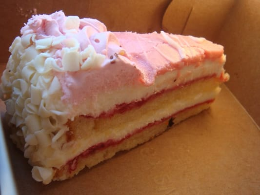 CB Scoops - Strawberry Mousse cake with white chocolate shavings ...