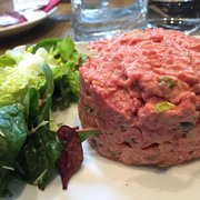 Bread and Roses - Paris, France. Steak tartare. The hubs was impressed.