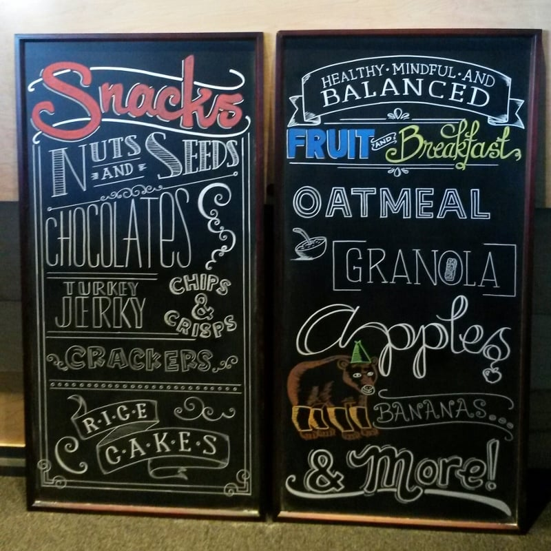 Kitchen Chalkboard Menu Design For Yelp