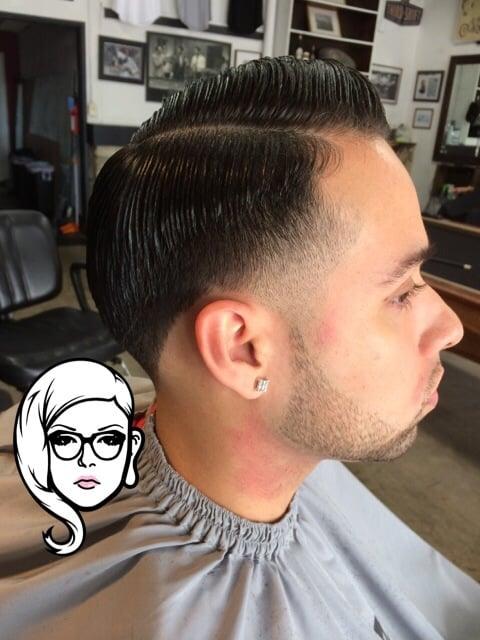 Barber Shop - Fullerton, CA, United States. Taper. Side part. Barber ...