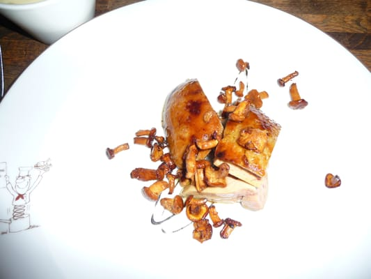 Foie gras with mushrooms