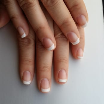 , MD, United States. Gel American manicure by Hein (one day old