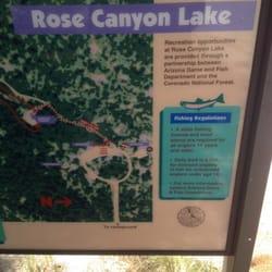 Rose canyon lake fishing tucson az yelp for Arizona fishing regulations