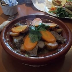 Gorgeous tender lamb tagine served with…