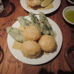 Mozzarella balls and sage leaves stuffed…