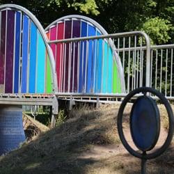 Colourful bridge in the Art Park