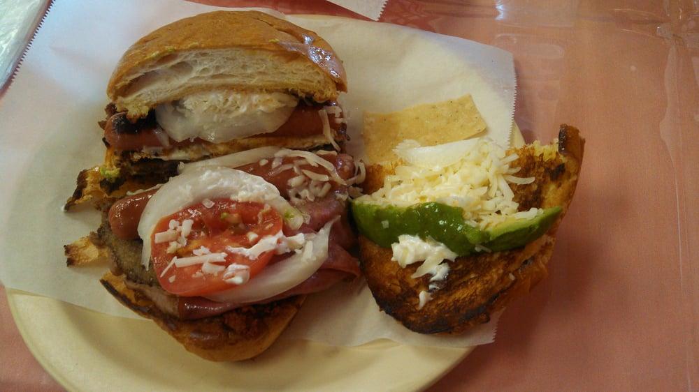 , TX, United States. La Cubana! Super Torta. Chorizo, sausage(hot ...