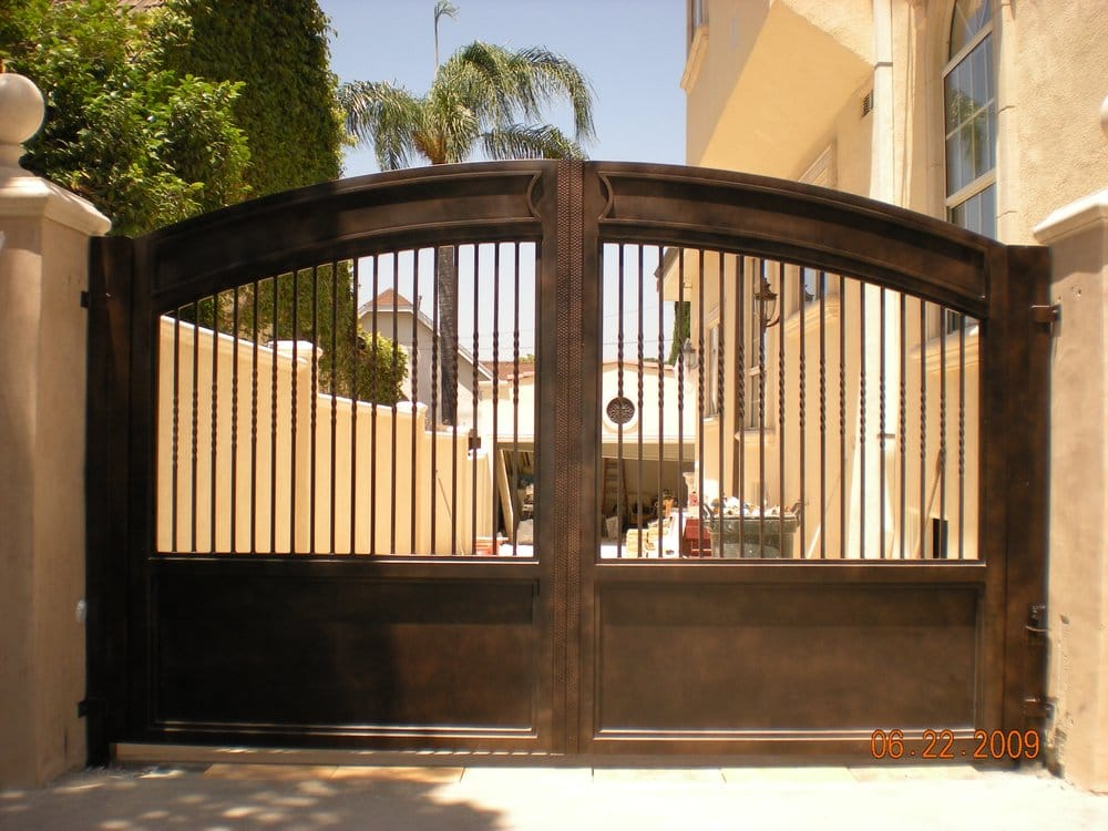 Custom Wrought Iron Driveway Gate Yelp