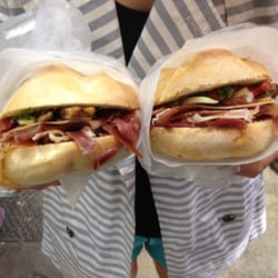 """Orgasmic"" sandwiches, made fresh on the…"