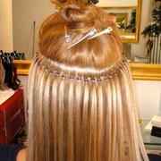 Haarverlängerung mit Microrings