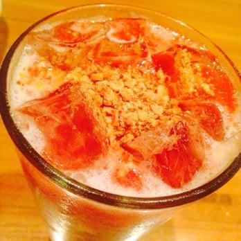 ... States. Strawberry Almond Horchata: Tasted like Pepto-Bismol. [1 star
