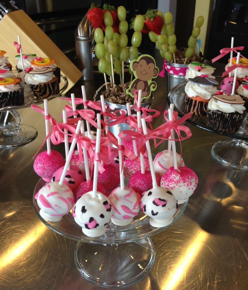 pink safari baby shower cake pops baby shower cake pops