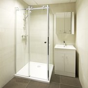 Karla Square Sliding Door Shower Enclosure