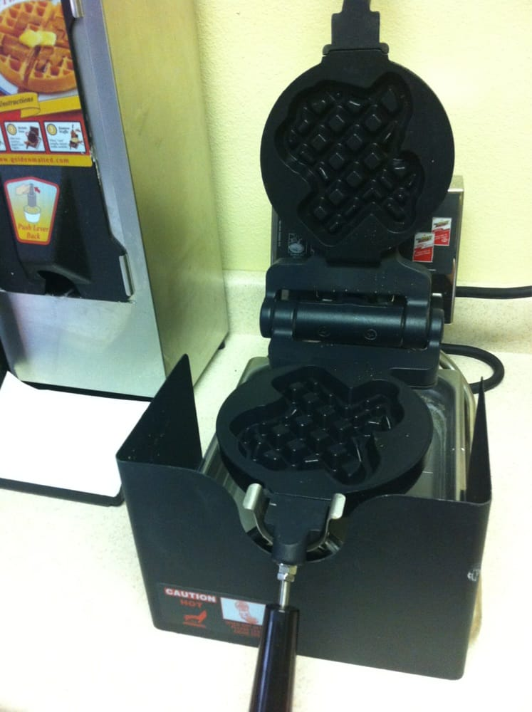 Cleveland (TX) United States  City new picture : Super 8 Cleveland, TX, United States. Texas shaped waffle maker.