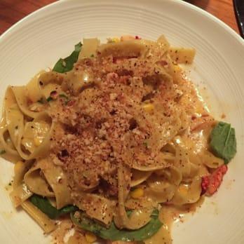 ... lobster, serrano chilis, corn, basil, housemade breadcrumbs, housemade