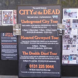 City of the Dead Graveyard Tour, Edinburgh