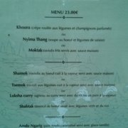 Second Menu (french)