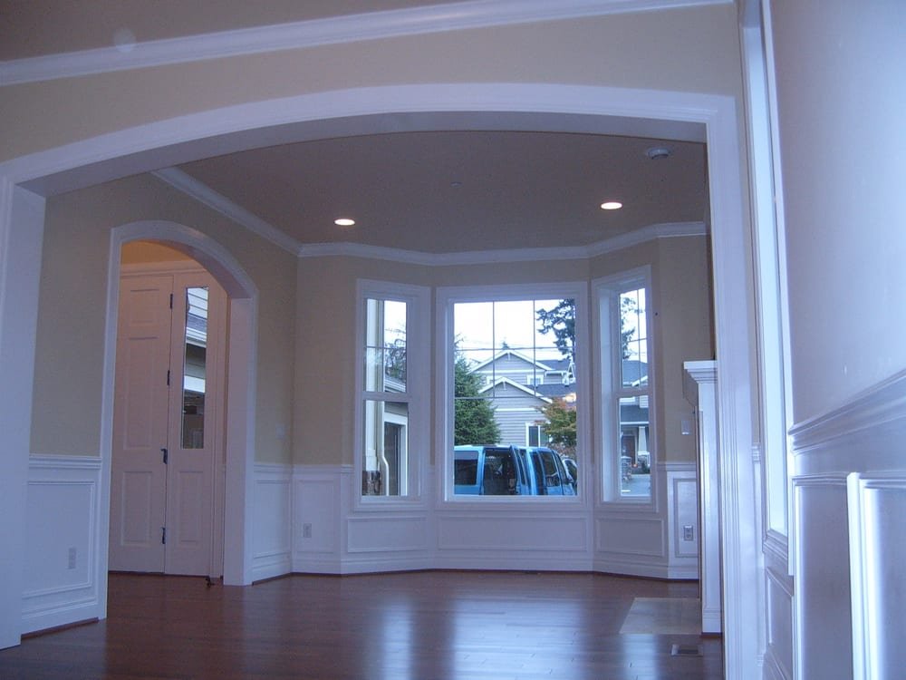 Complete interior including mil pak with wainscoting yelp for Capstone exterior design firm