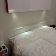 Cool lights & big bed