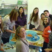 Institute of Mosaic Art - Berkeley, CA, États-Unis. Team Building Workshop with Rachel Rodi