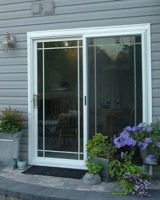Sliding glass door with french grids and standard 4 point for Sliding glass doors sunroom