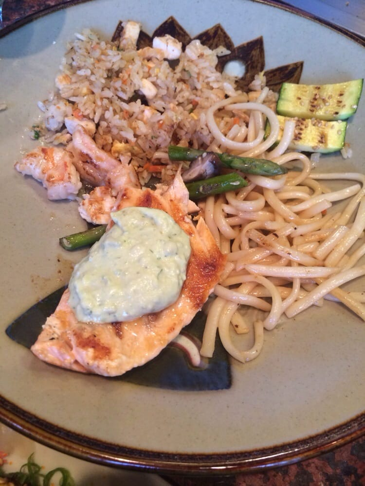 Hibachi Salmon With Avocado Tartar Sauce Salmon w/ Avocado Tartar Sauce