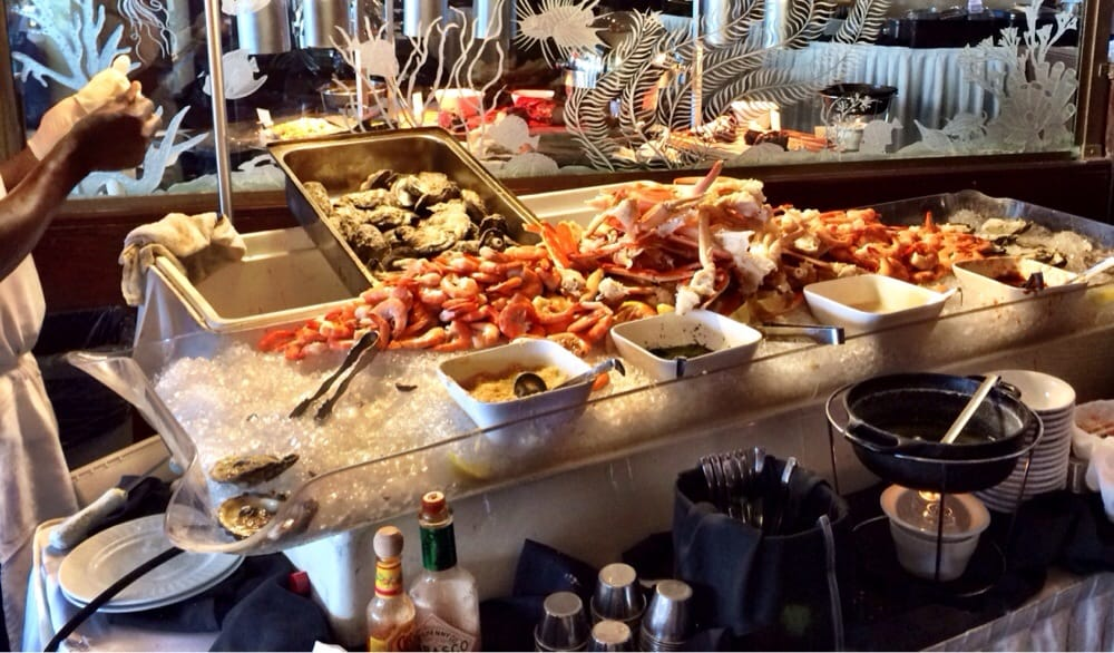 Raw bar near the end of sunday brunch yelp for Fish buffet near me