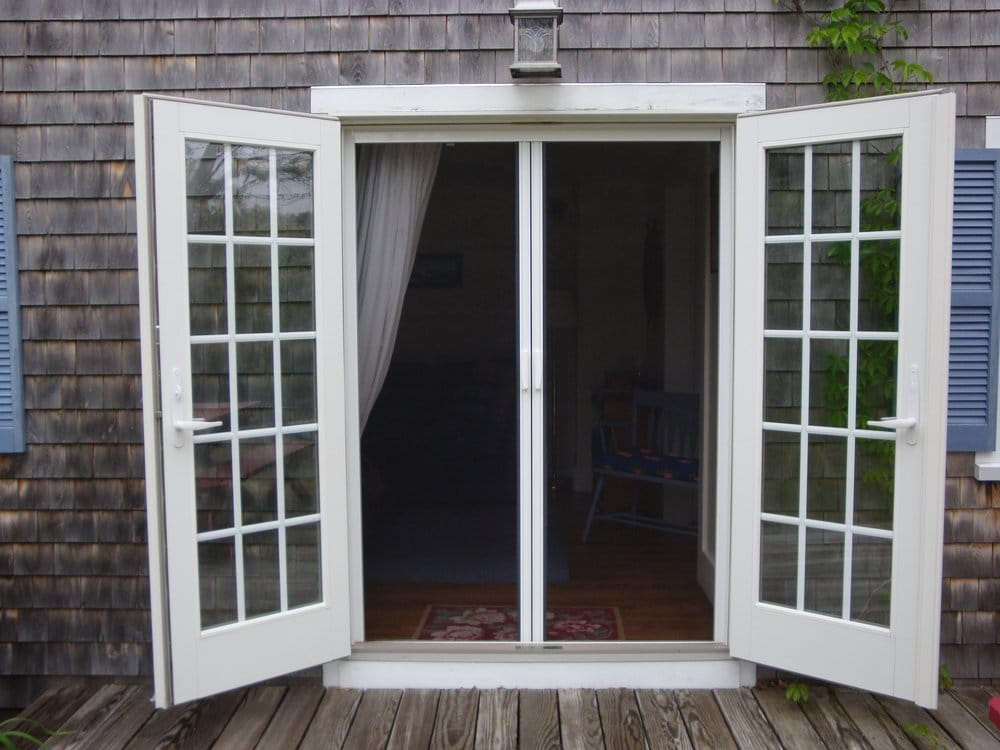 Cape cod retractable screens n shutters 12 photos for French door sliding screen
