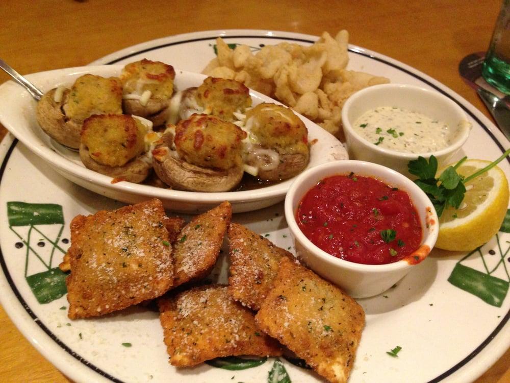 Create A Sampler Italiano Calamari Stuffed Mushrooms Ravioli Yelp