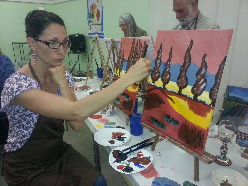 Kelly jo designs by wine paint sip los ranchos de for Paint and wine albuquerque