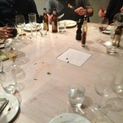 An empty table waiting for eternity for…