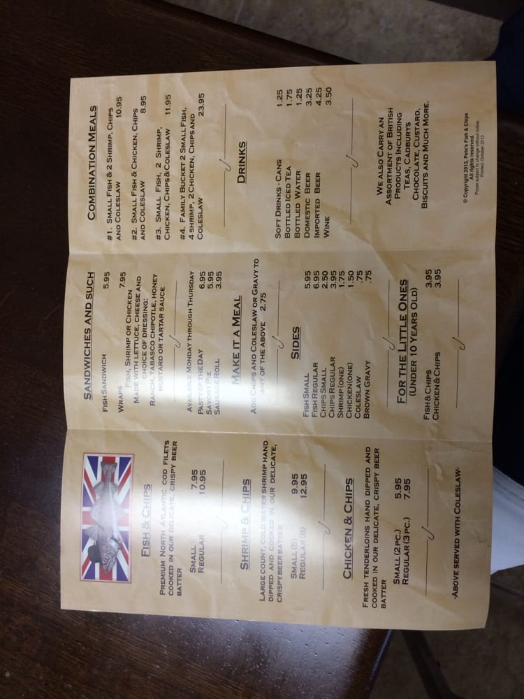 Pete s fish chips 19 billeder fish n 39 chips 311 for Petes fish and chips menu