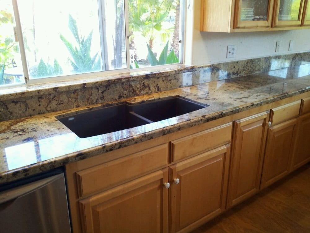 Sill Granite Sink : ... tips with golden crystal granite ogee edge, 6