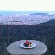 Balcony views of Barcelona.
