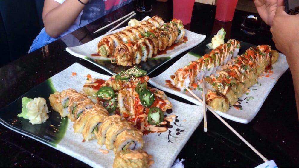 Fried Dragon Roll fried California rolls