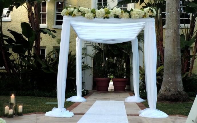 Wedding Arch Rental Miami Chuppah Altar Canopy Mandap San Diego