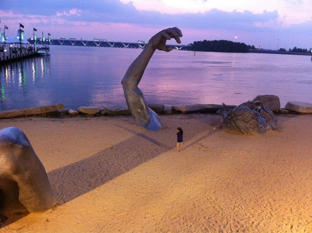 The awakening statue in the sand at national harbor yelp for Awakening sculpture national harbor