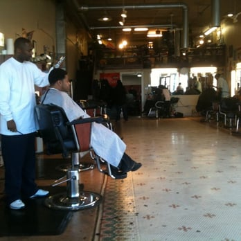 Barber Shop Denver : Hollywood Barber Shop - Denver, CO, United States. Xavier hard at work ...