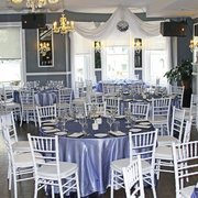 Darlington House - Washington, DC, États-Unis. Available Linens to Choose from for Private Events Upstairs - Blue