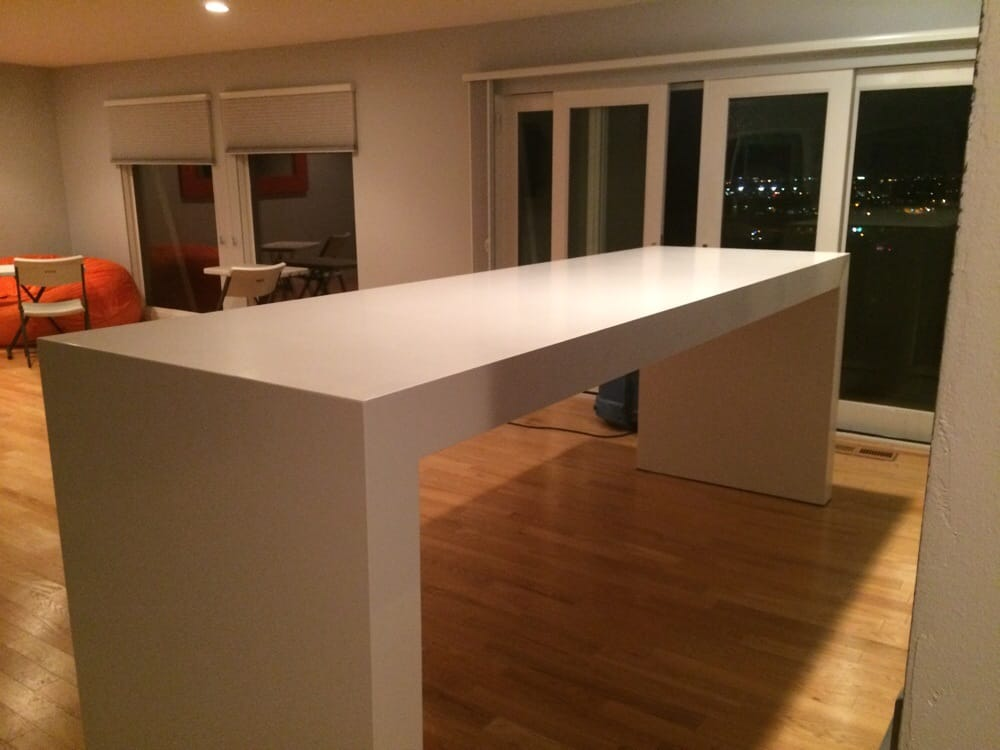 This is a free standing table meaning it doesn 39 t have any for Granite countertop support requirements