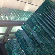 The staircase in the glass exhibit at…