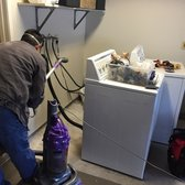 Mobile Appliance Tech - Service & Repair - Solana Beach, CA, United States. Cleaning the back of my washer and dryer :)