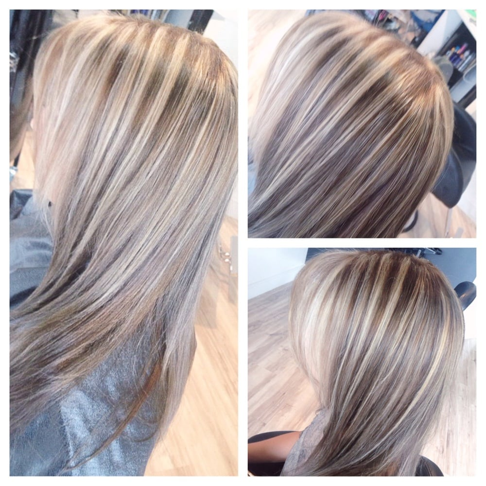 Ash Blonde Highlights And Lowlights for Pinterest